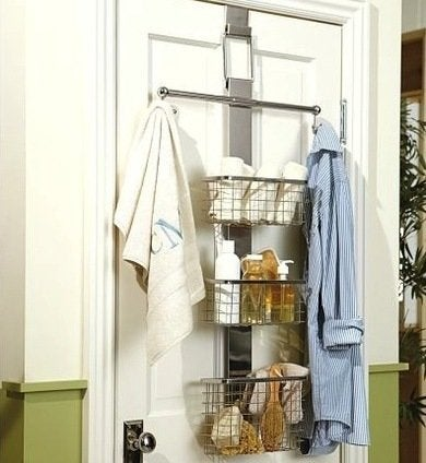 Potterybarn over the door bath storage