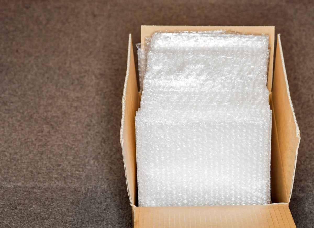 Bubble wrap storage