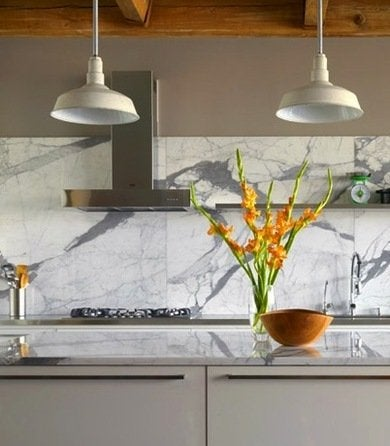 marble kitchen backsplash ideas for a unique kitchen bob vila. Black Bedroom Furniture Sets. Home Design Ideas
