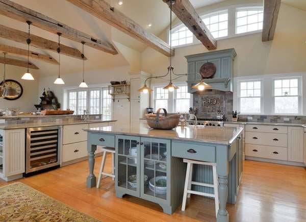 Exposed Beams in Kitchen