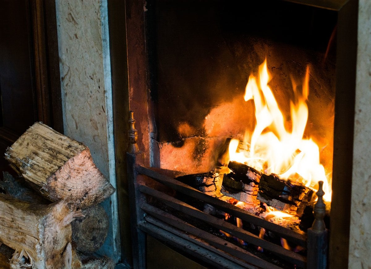 Heat hacks fireplace