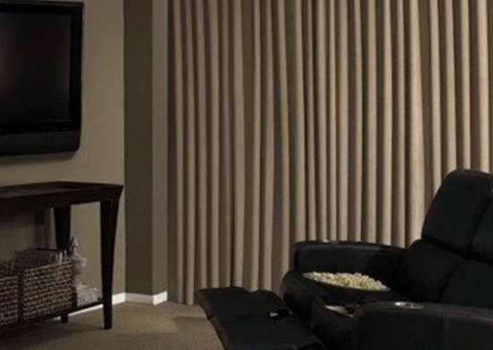 home movie theater curtain
