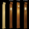 home movie theater wood columns