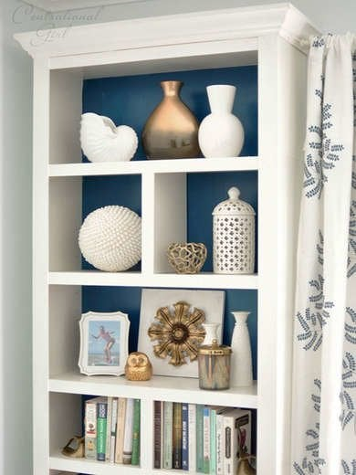 DIY Painted Shelving Unit