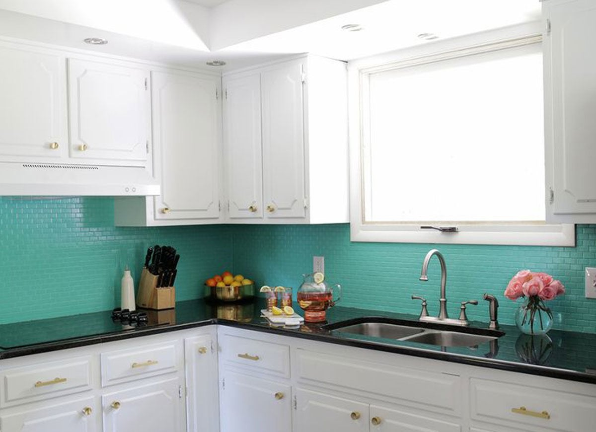 Paint backsplash