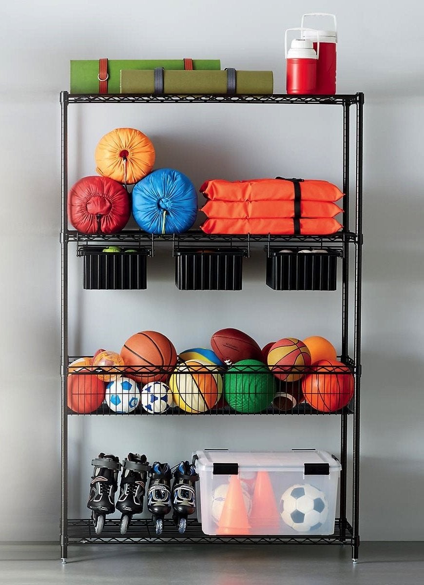 Best garage storage shelving container store