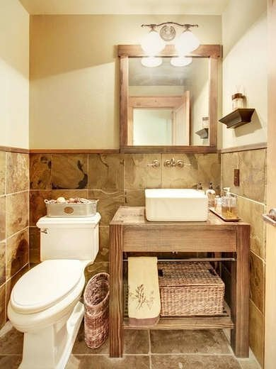 Tiled Tiny Bathroom