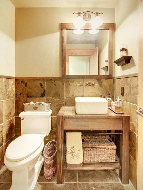 Tiled Tiny Bathroom