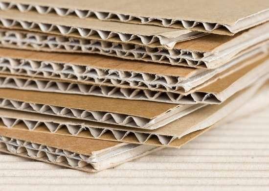 Burning cardboard