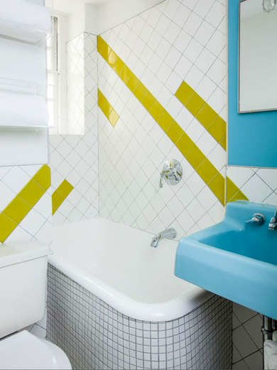 Colorful Small Bathroom