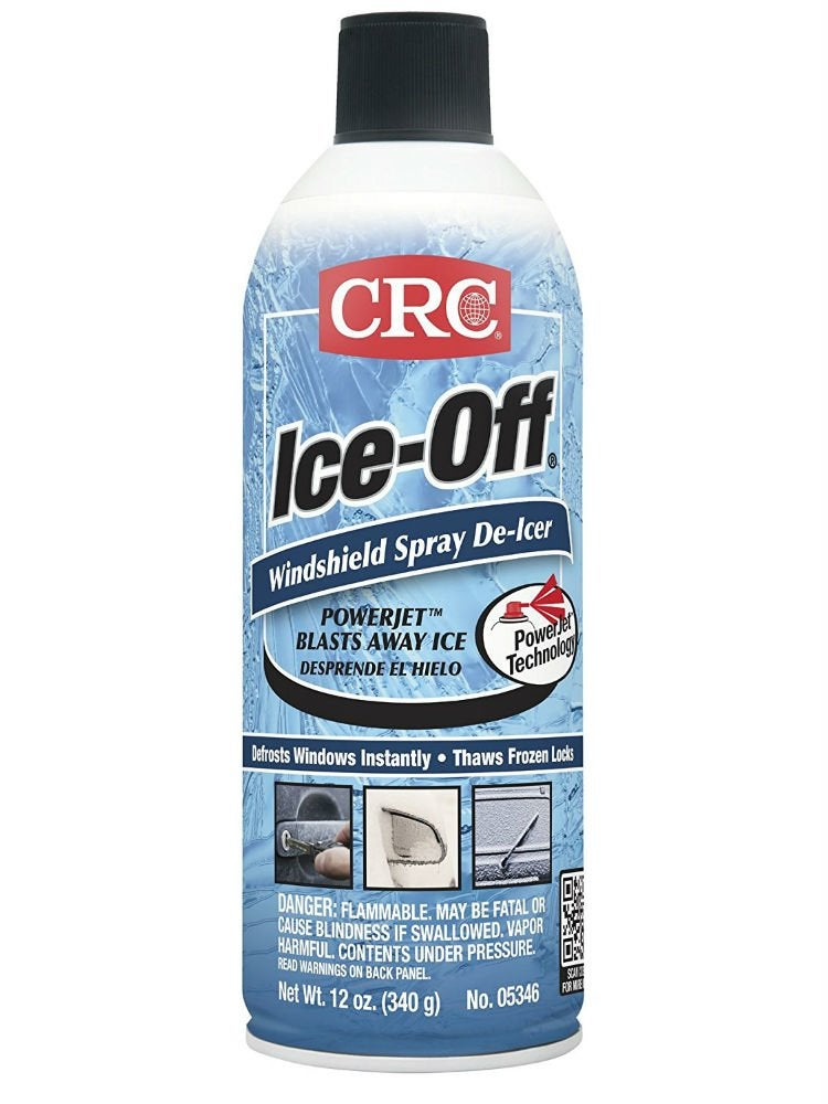 Ice off windshield spray deicer