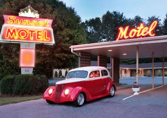 The Sunset Motel in Brevard, North Carolina