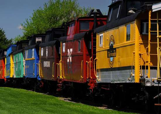 The Red Caboose in Ronks, Pennsylvania