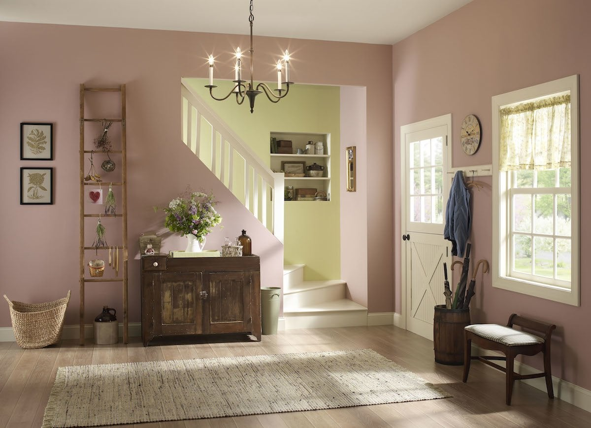 Milennial pink walls