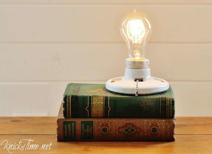 Vintage Book Lamp