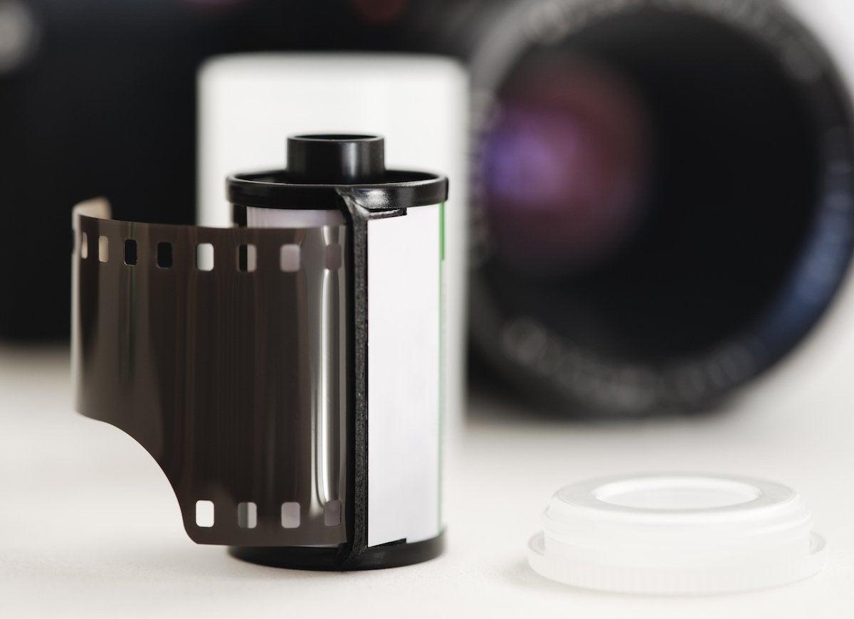 Develop camera film