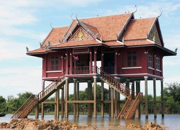 Stilt Homes in Cambodia