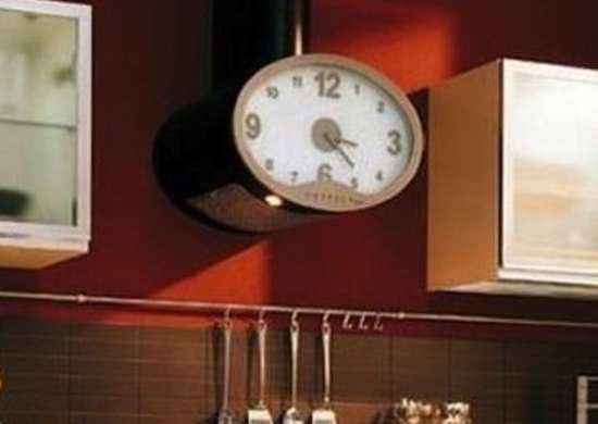 range hood ideas clock