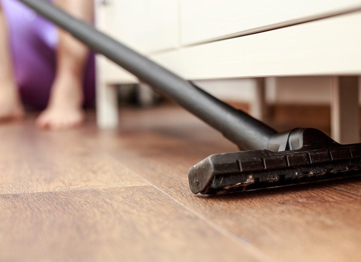 Vacuum under furniture