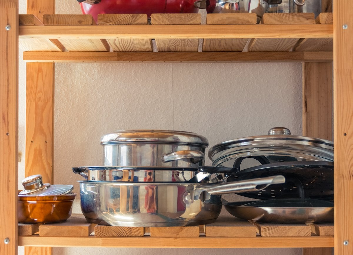 Clean old pots and pans