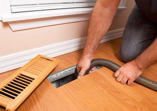 Cleaning heating registers