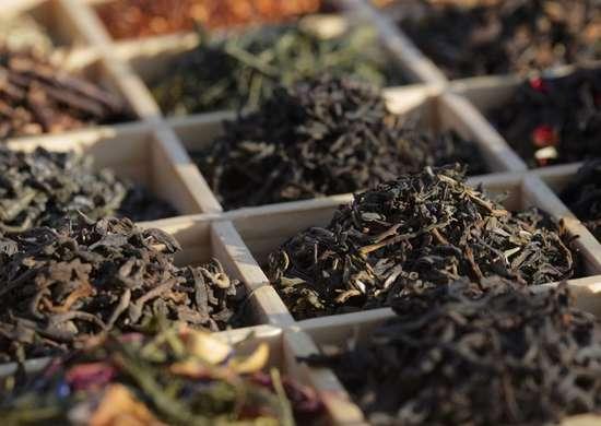 Tea Leaves In Garden