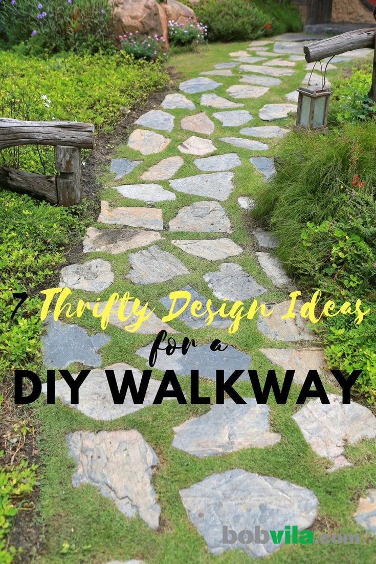 Choose a pathway that fits your style and needs. If none of these ideas perfectly suit you put your own design st& on it to make it what you want. & DIY Garden Paths - 7 Thrifty Designs - Bob Vila