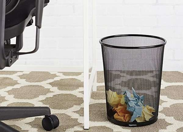 AmazonBasics Mesh Wastebasket