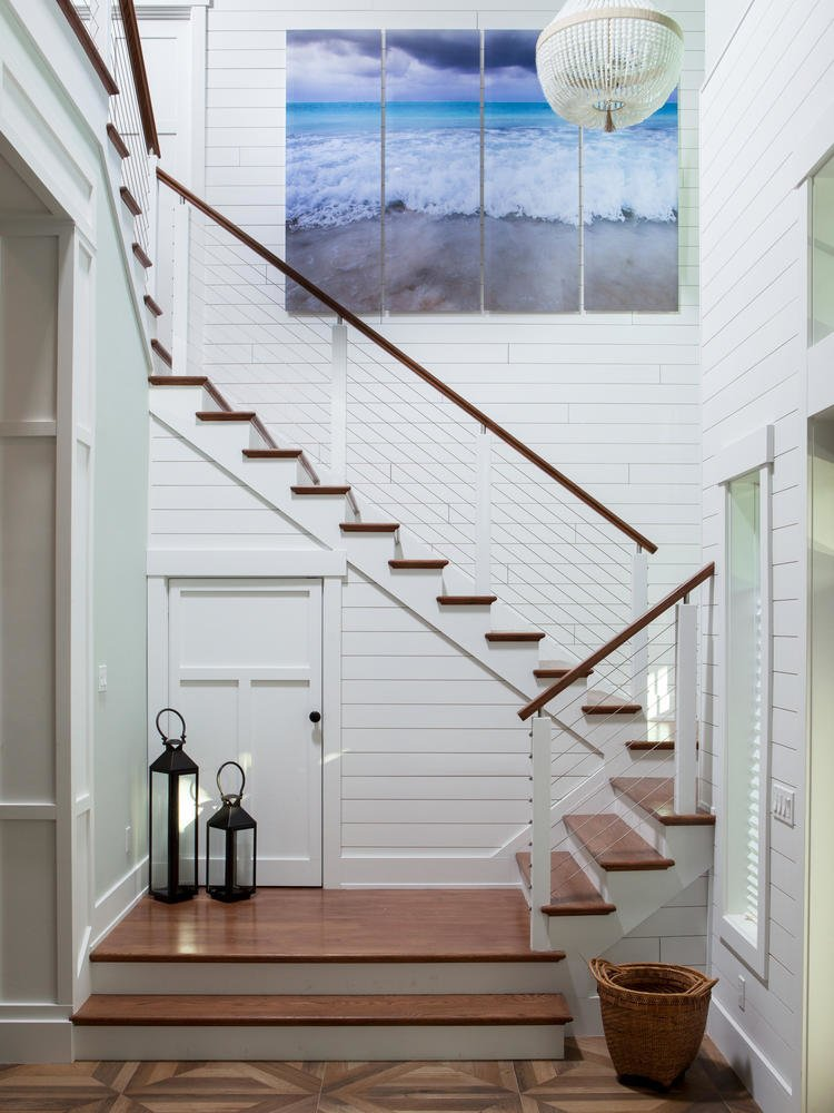 Shiplap stairs