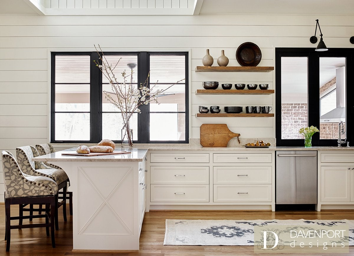 Can A Kitchen Be Both Modern And Traditional Yes If You Choose Neutral Color Scheme Maximize Space Play Up Classic Feature Like Shiplap