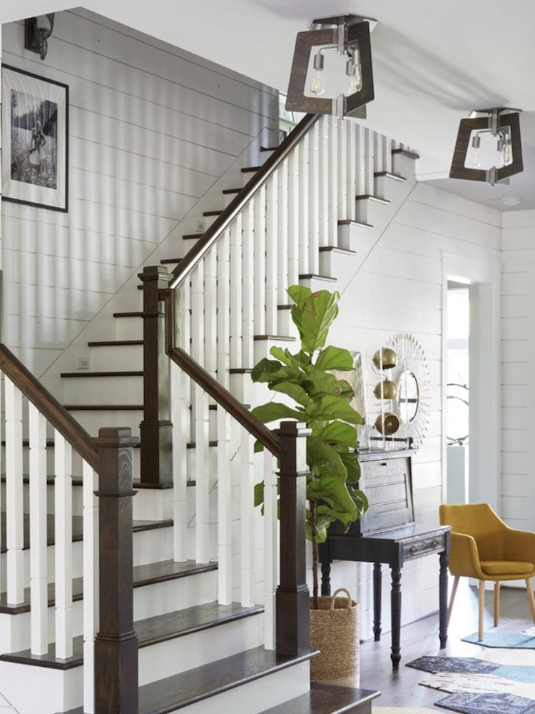 Lighting Basement Washroom Stairs: 17 Ways To Use Shiplap In Your Home