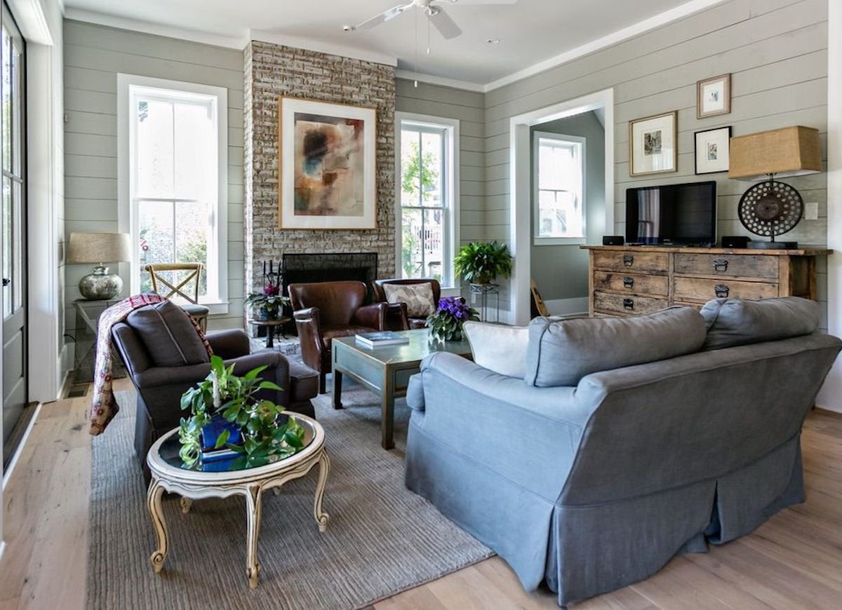 Shiplap living room