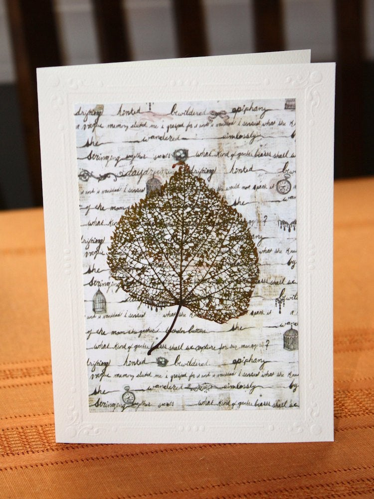 Leaf stamped card