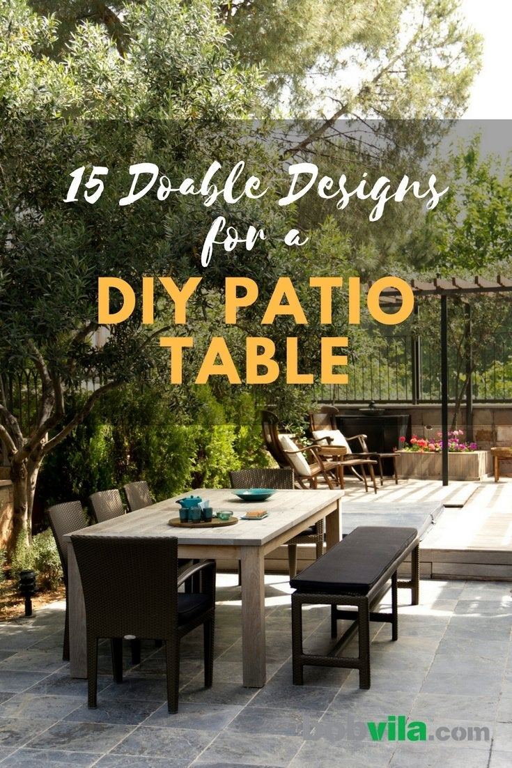 Doable designs for a diy patio table