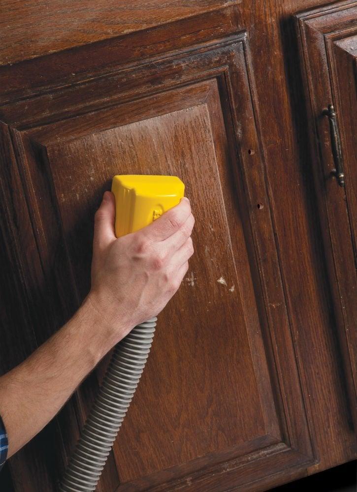 Sponge sander scuffing cabinets