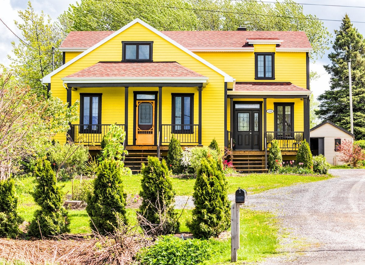 Bright yellow house