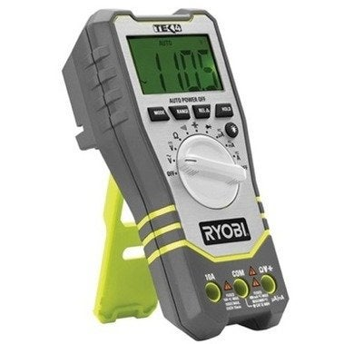 Ryobi tek4 4 volt digital multimeter with battery and charger