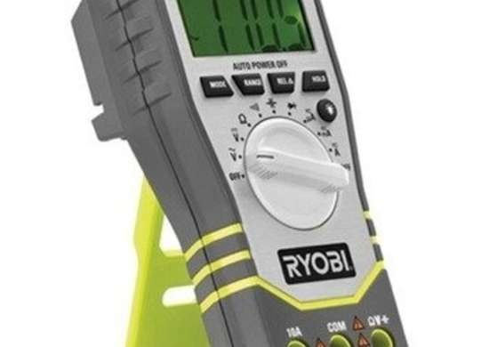 Ryobi tek4 4 volt digital multimeter with battery and charger