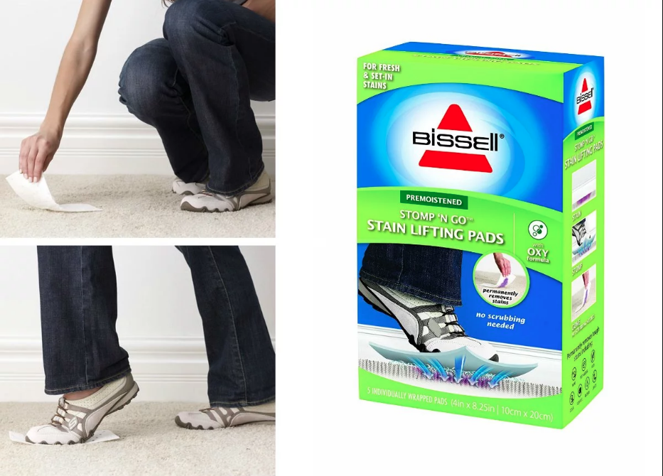 Stomp n go stain removal pad