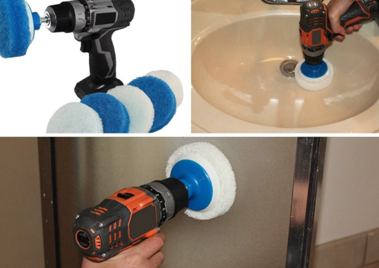 RotoScrub Bathroom Cleaning Drill Attachment