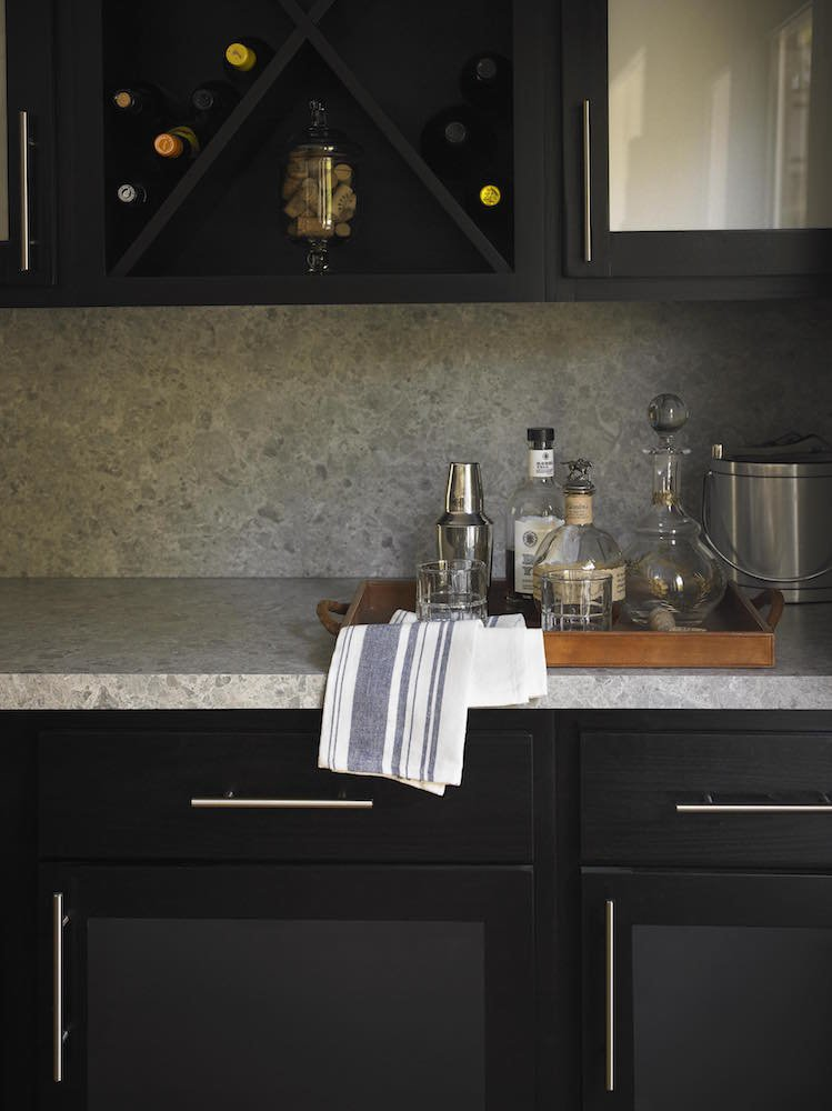 Black cabinets formica
