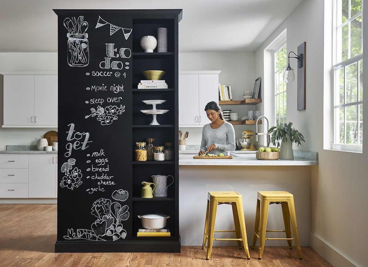 Black chalkboard wall
