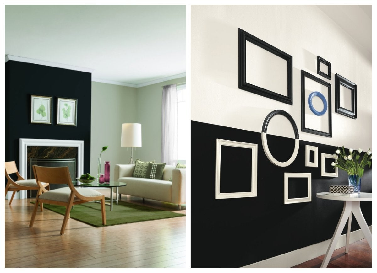 Black accent walls