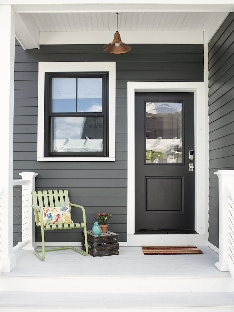 Black door exterior paint