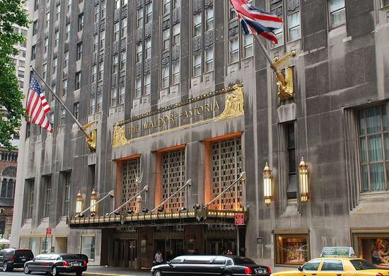 Waldorf Astoria in New York, New York