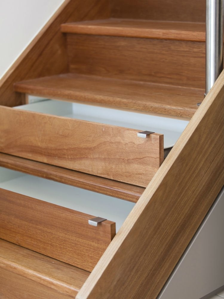 Storage in stairs