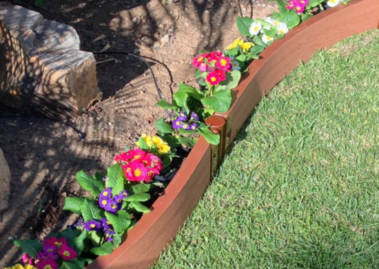 Covers 7 Feet Set of 4 Easy To Install Flexible Garden Border Edging