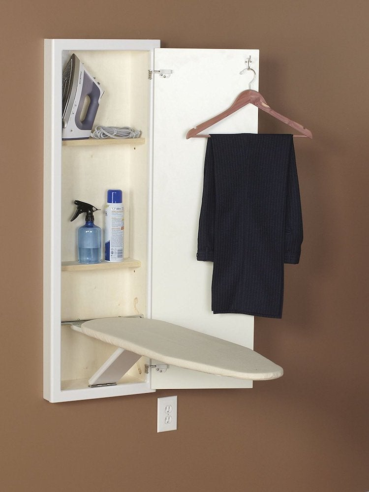 how to build drop down ironing board | Laundry Room Storage Ideas - 10 Genius Options - Bob Vila