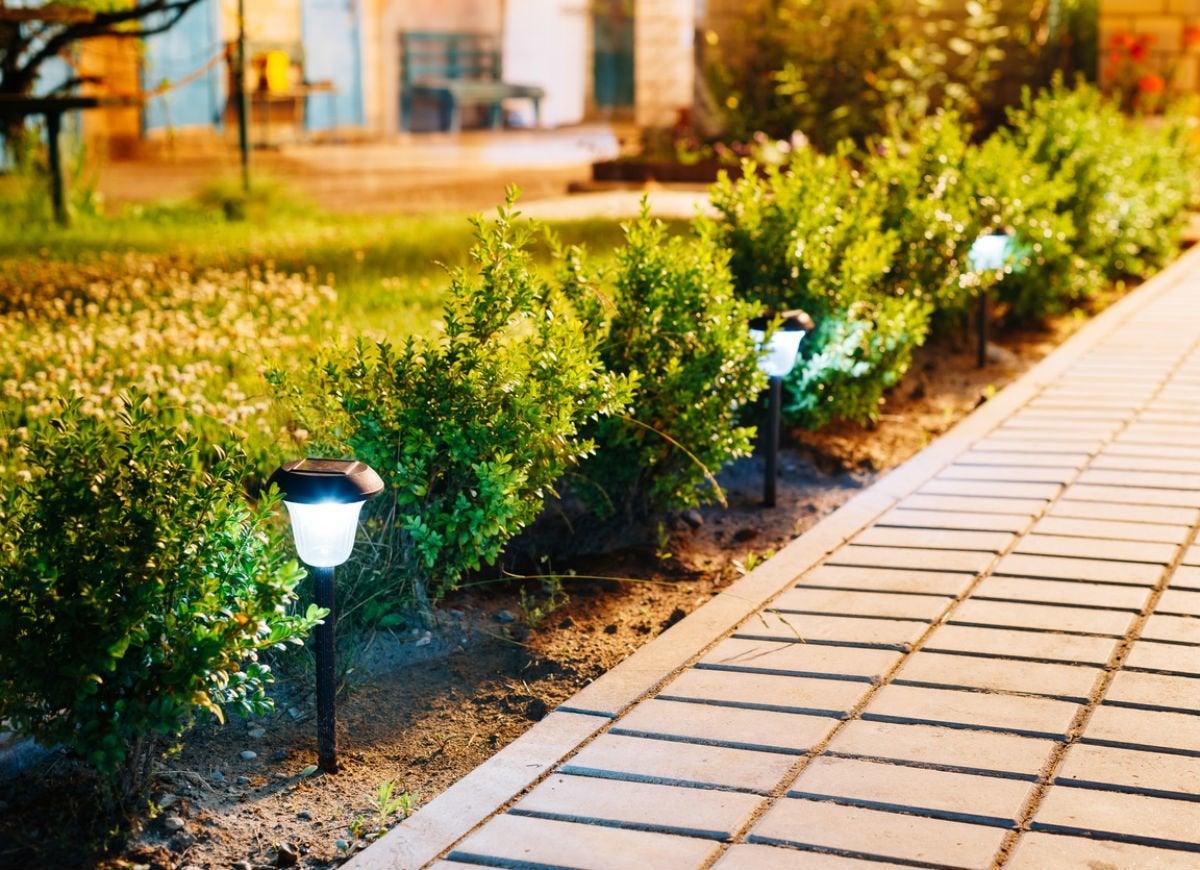 Solar lights for walkway