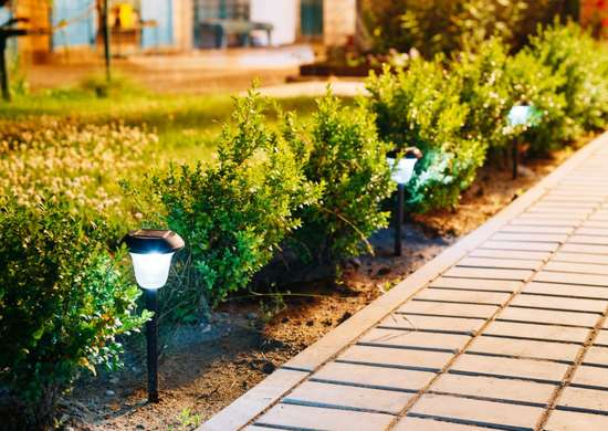 Add nighttime ambience with solar lights.